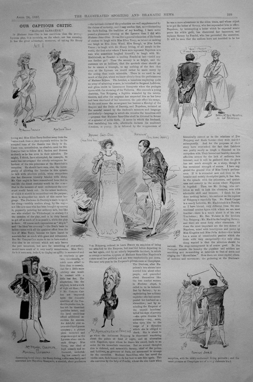 Our Captious Critic, April 24th 1897.