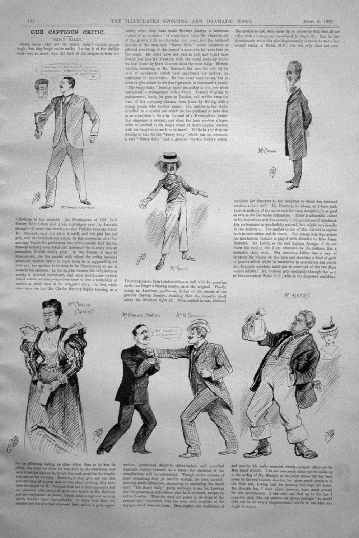 Our Captious Critic, April 3rd 1897.