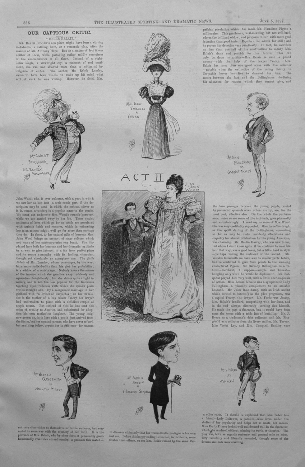 Our Captious Critic, June 5th 1897.