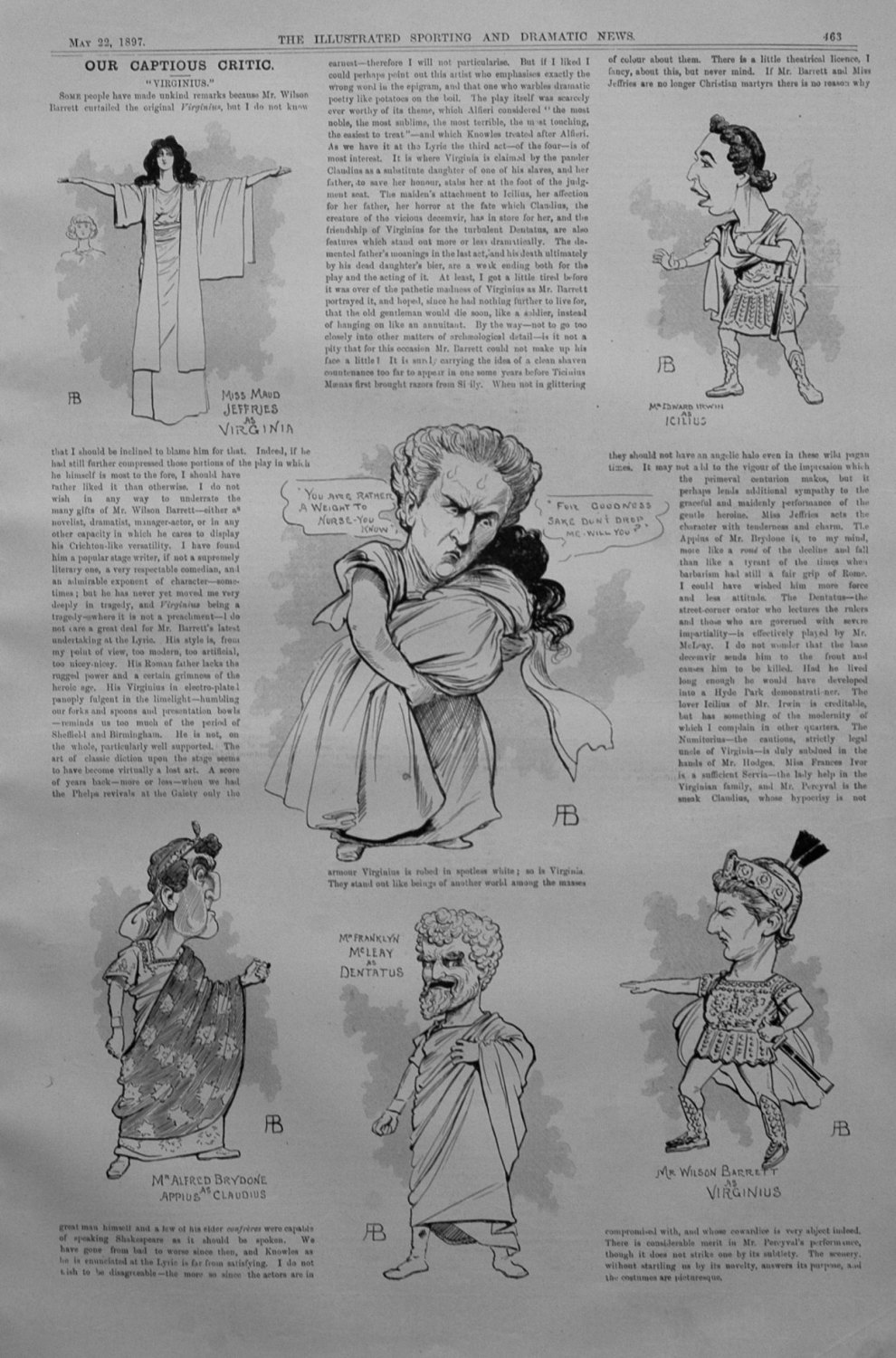 Our Captious Critic, May 22nd 1897.
