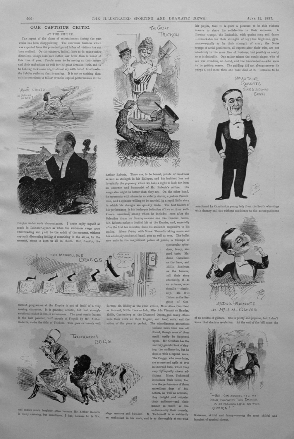 Our Captious Critic, June 12th 1897.
