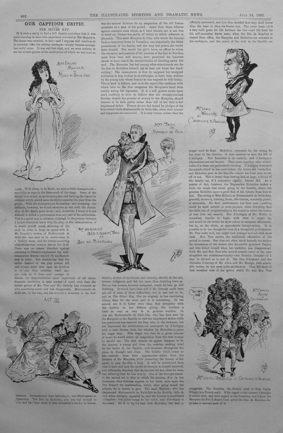 Our Captious Critic, July 24th 1897.