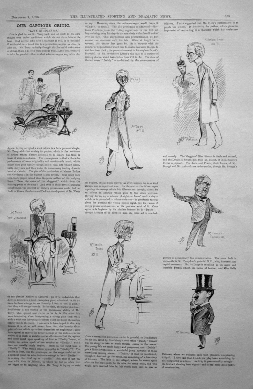 Our Captious Critic, November 7th 1896.