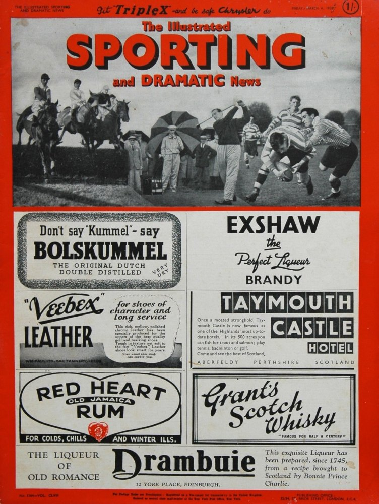 Illustrated Sporting and Dramatic News March 4th 1938.