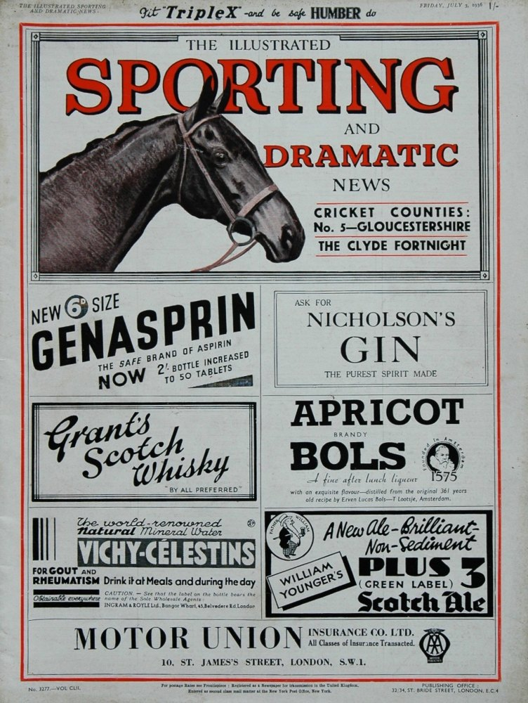 Illustrated Sporting and Dramatic News July 3rd 1936.