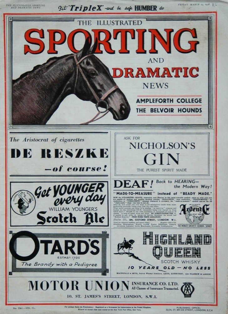 Illustrated Sporting and Dramatic News March 13th 1936.