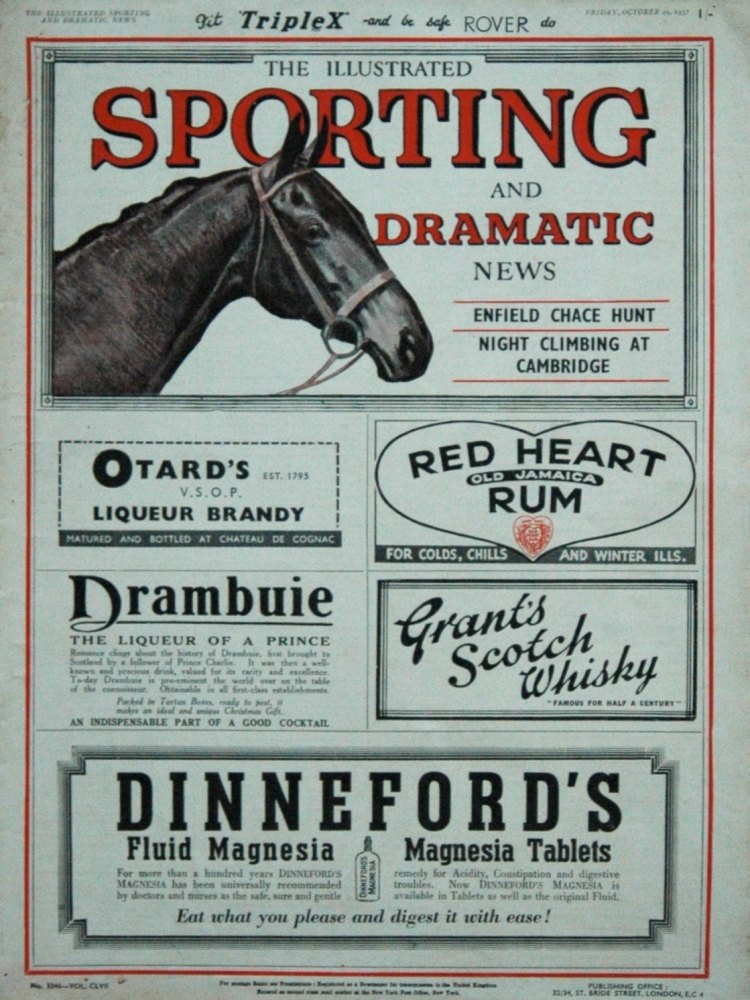 Illustrated Sporting and Dramatic News October 29th 1937.
