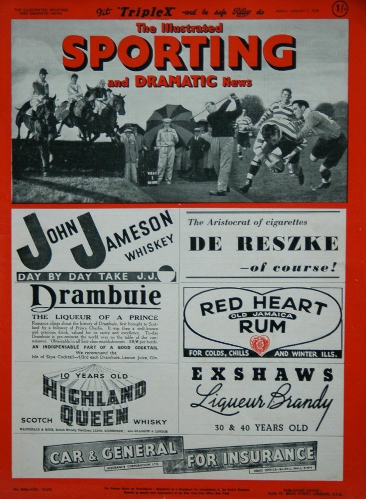Illustrated Sporting and Dramatic News January 7th 1938.
