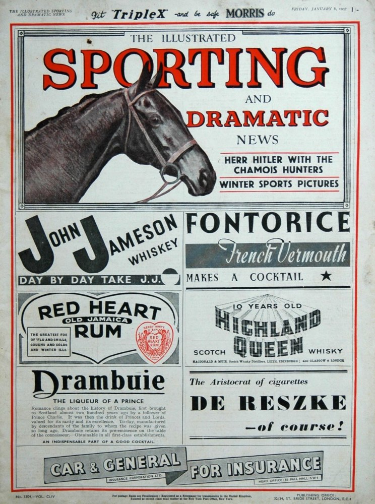 Illustrated Sporting and Dramatic News January 8th 1937.