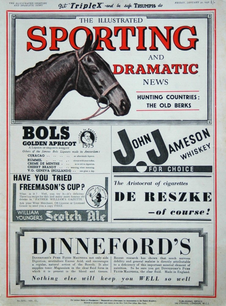 Illustrated Sporting and Dramatic News January 31st 1936.