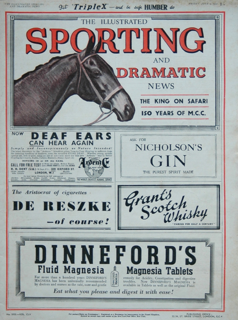 Illustrated Sporting and Dramatic News June 4th 1937.