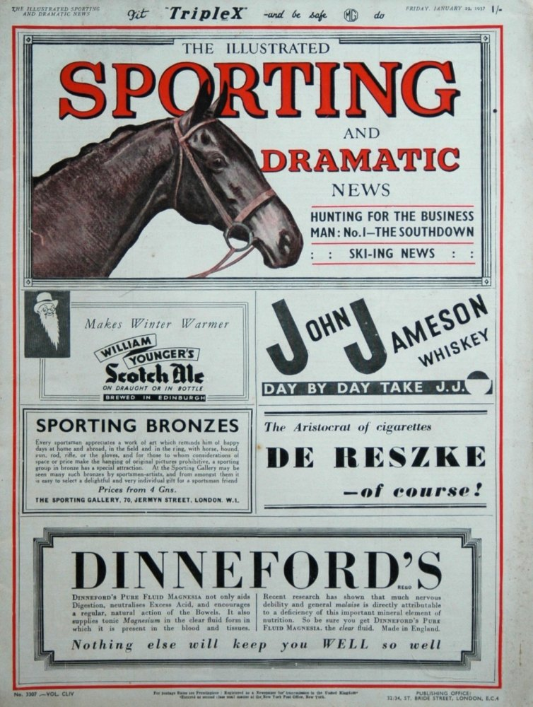 Illustrated Sporting and Dramatic News January 29th 1937.