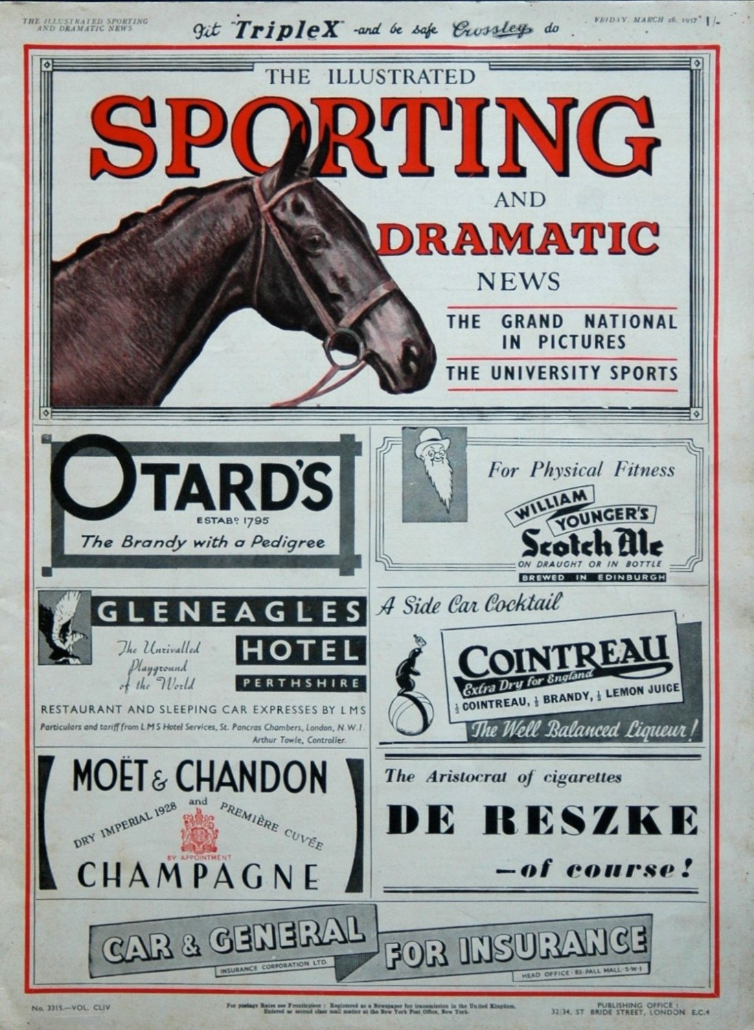 Illustrated Sporting and Dramatic News March 26th 1937.