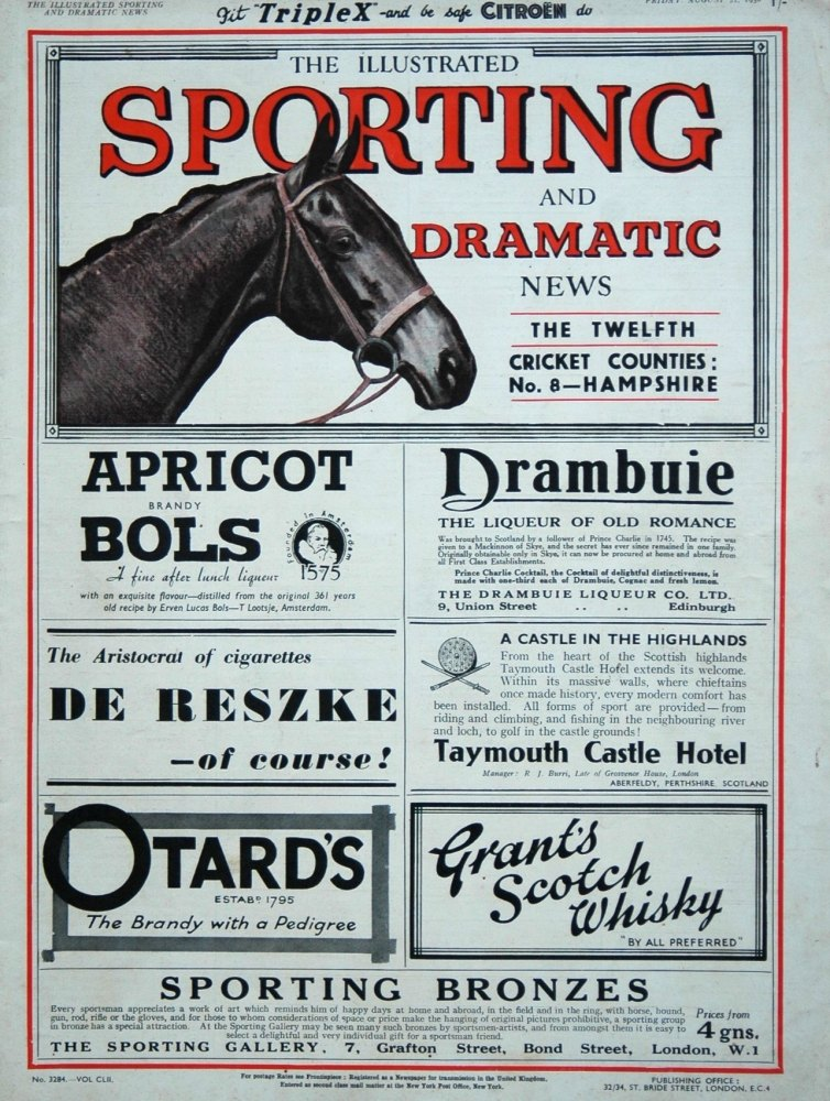 Illustrated Sporting and Dramatic News August 21st 1936.