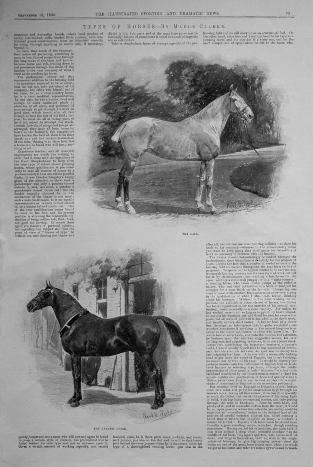 Types of Horses. By Maud Clarke.