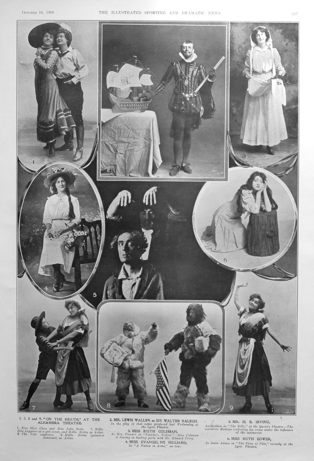 The Stage October 16th 1909.