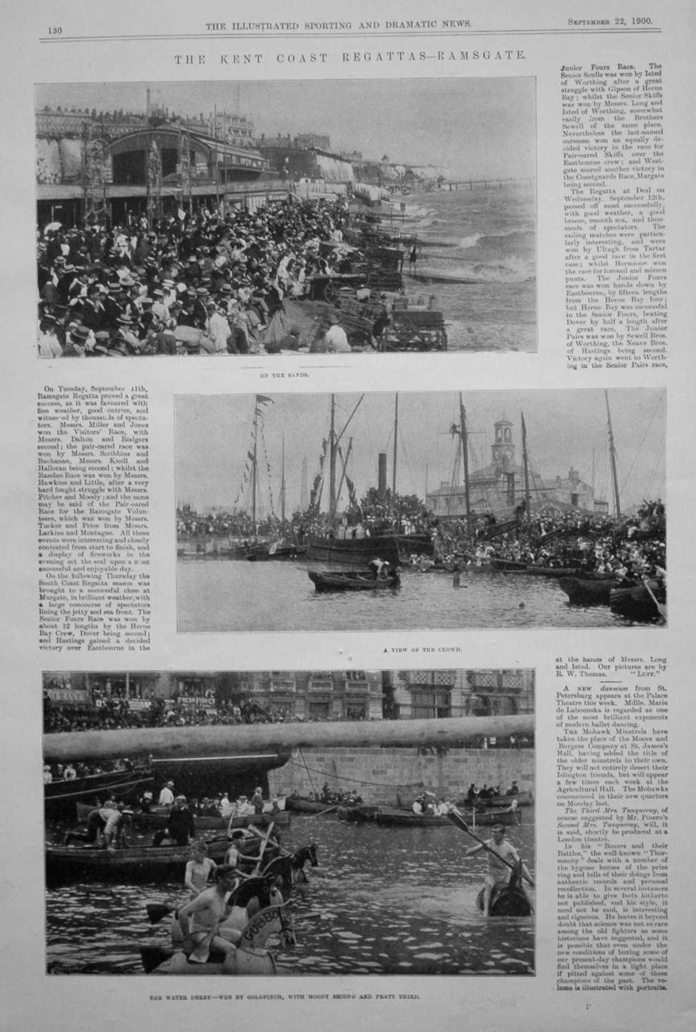 The Kent Coast Regattas-Ramsgate. September 22nd 1900.