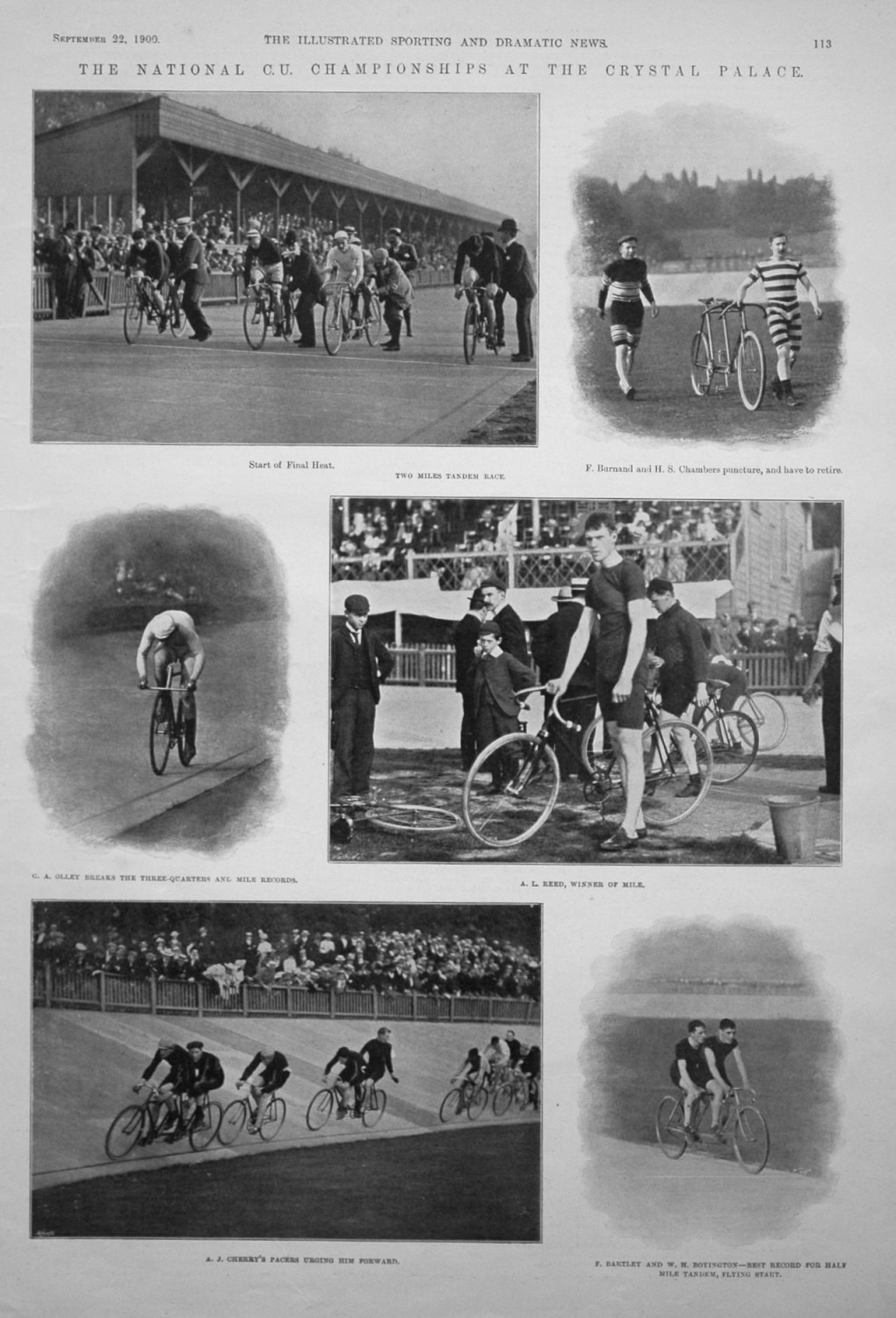 The National C.U. Championships at the Crystal Palace.