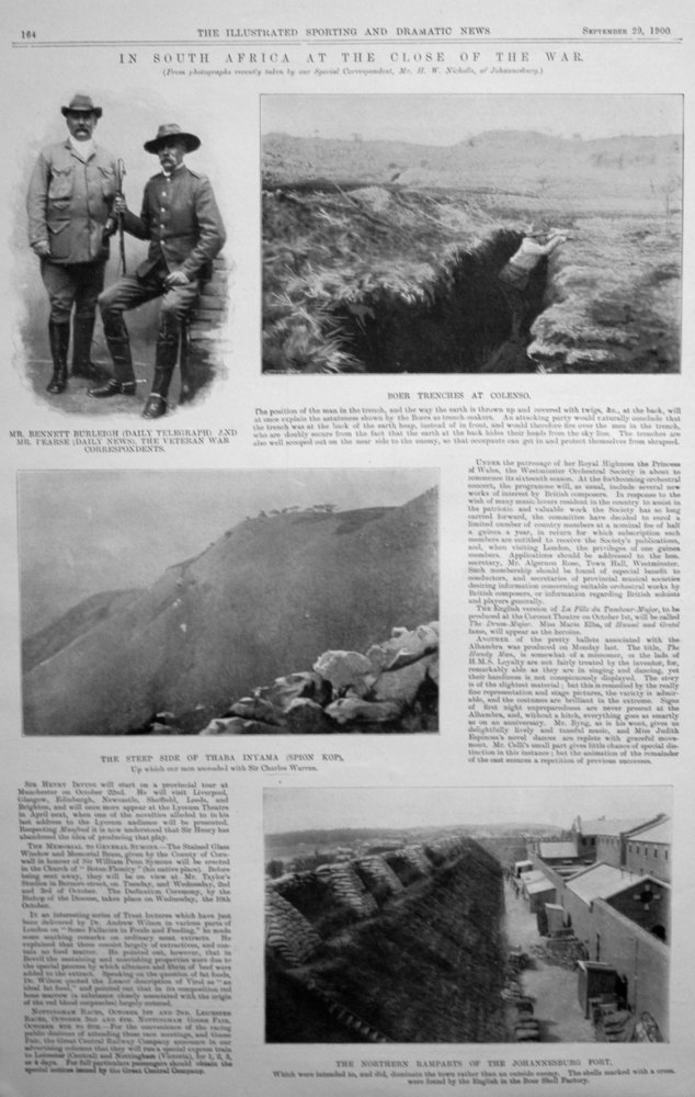 """""""In South Africa at the Close of the War."""" 1900"""