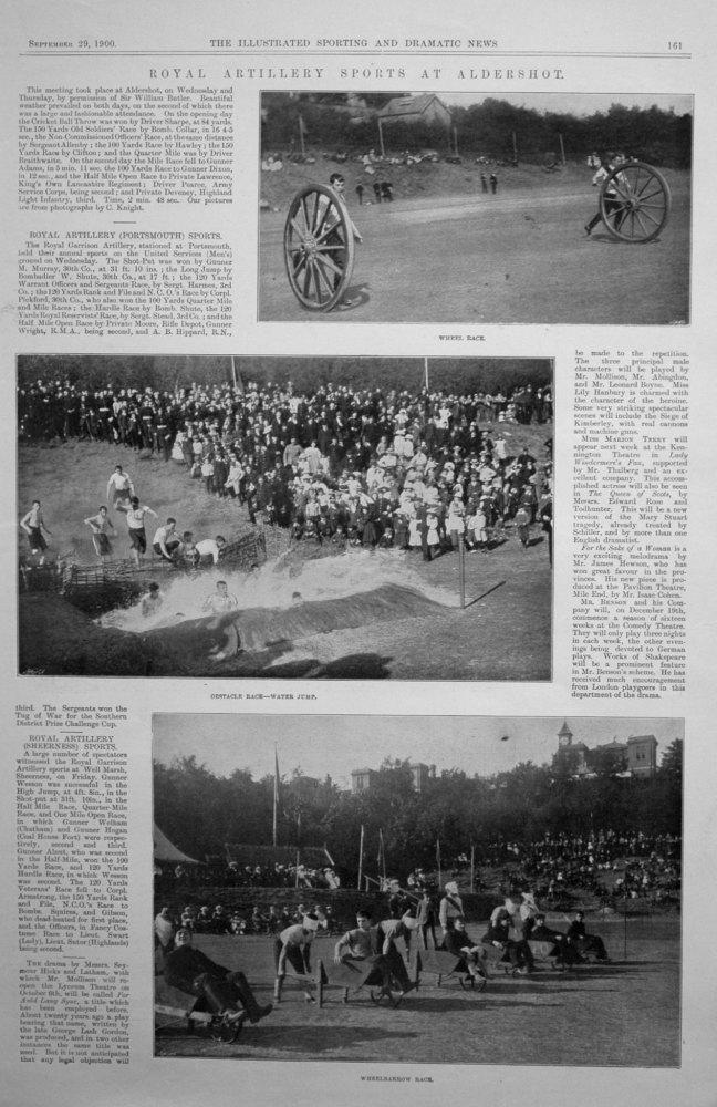 Royal Artillery Sports at Aldershot.