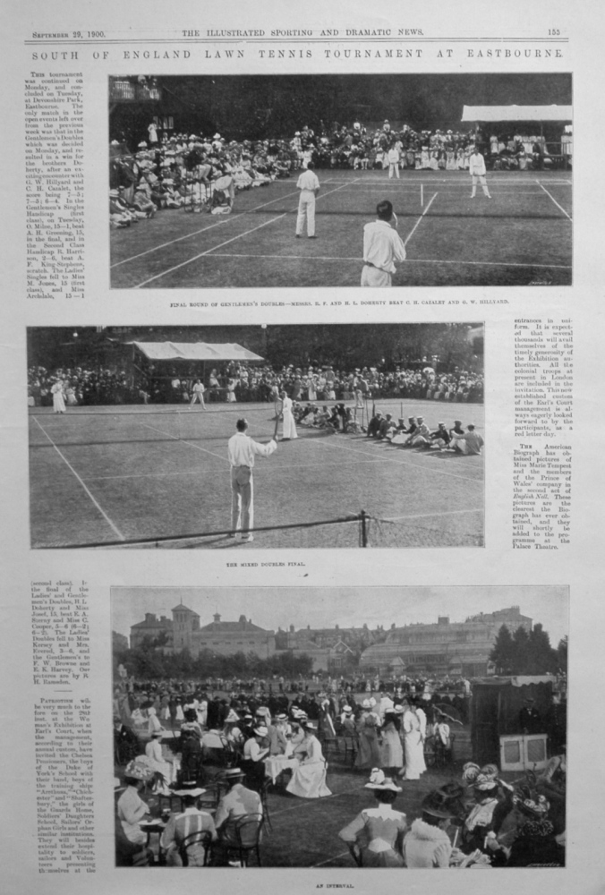 South of England Lawn Tennis Tournament at Eastbourne.