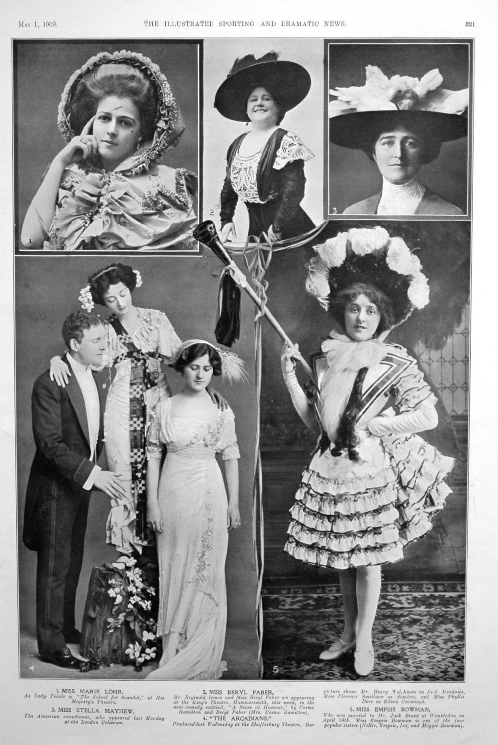 Portraits from the Stage May 1900.