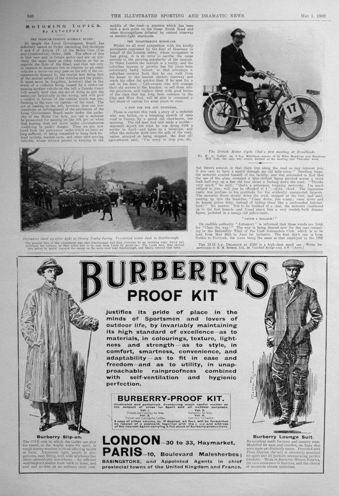 Motoring Topics. May 1st 1909.