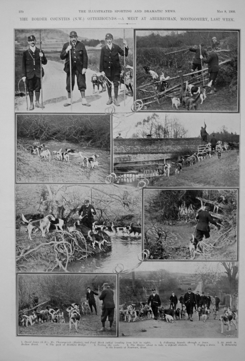 The Border Counties (N.W.) Otterhounds. - A Meet at Aberbechan, Montgomery,