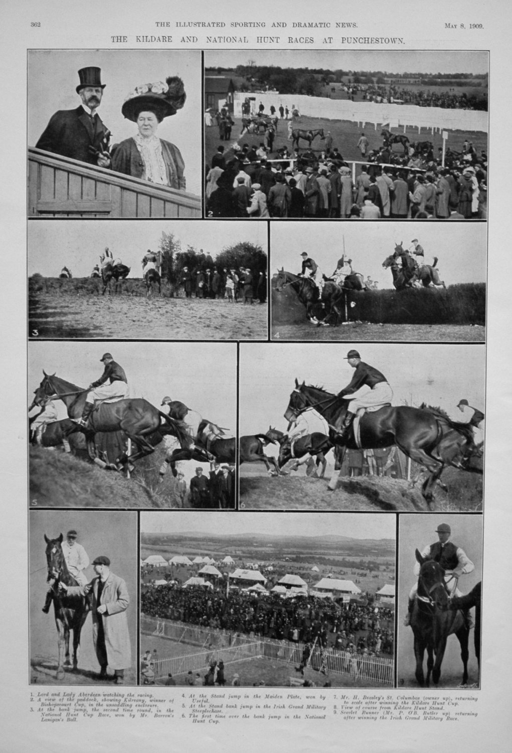 The Kildare and National Hunt Races at Punchestown.