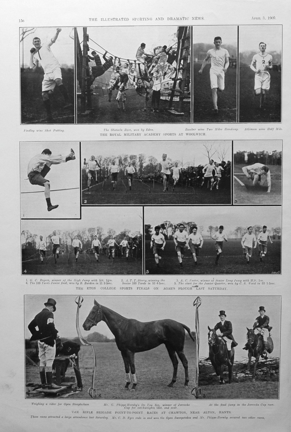 The Eton College Sports Finals on Agar's Plough. 1909.