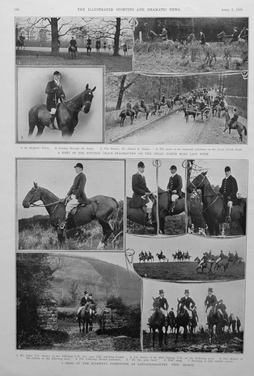 A Meet of the Kilkenny Foxhounds at Barnaglissawney this Season.
