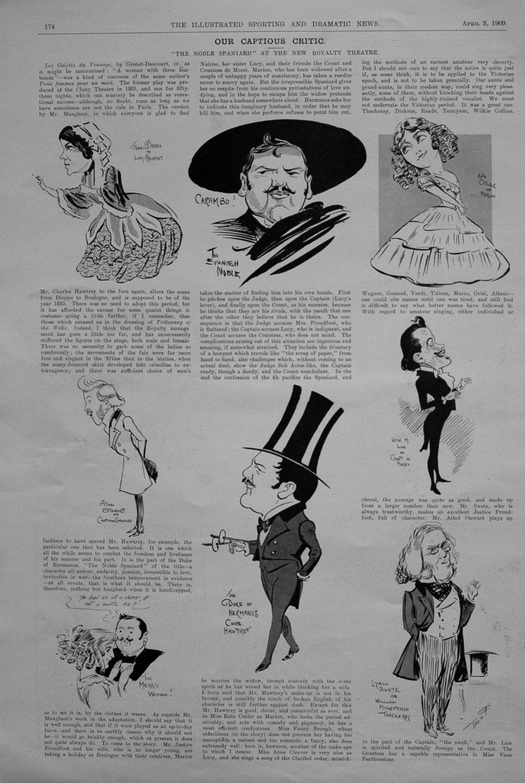 Our Captious Critic, April 3rd 1909.