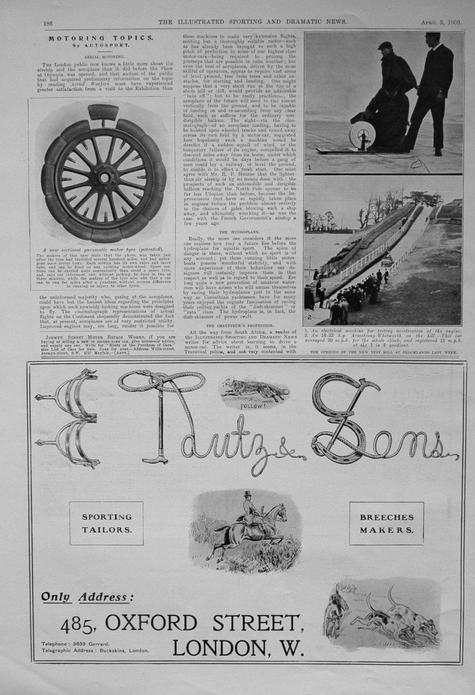 Motoring Topics by Autosport. April 3rd 1909.