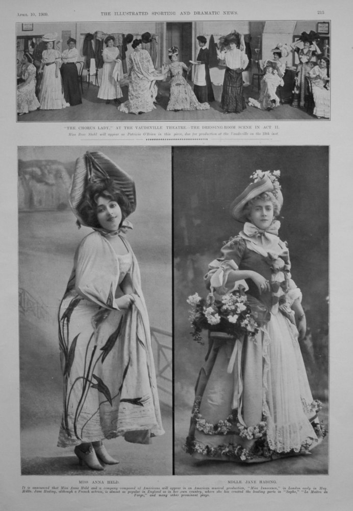 Miss Anna Held, and Mdlle  Jane Hading