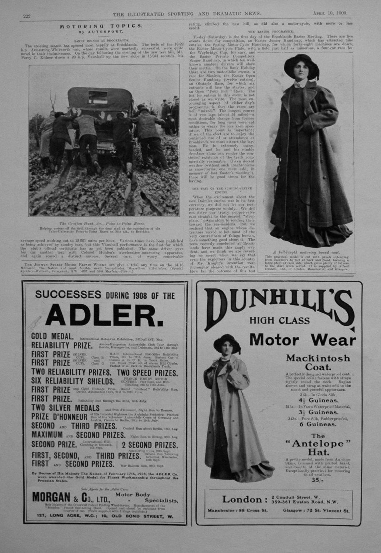 Motoring Topics, by Autosport. April 10th 1909.