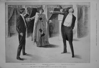 """""""Ask Her !."""" The Climax in """"The Lackey's Carnival"""" at the Duke of York's Theatre."""