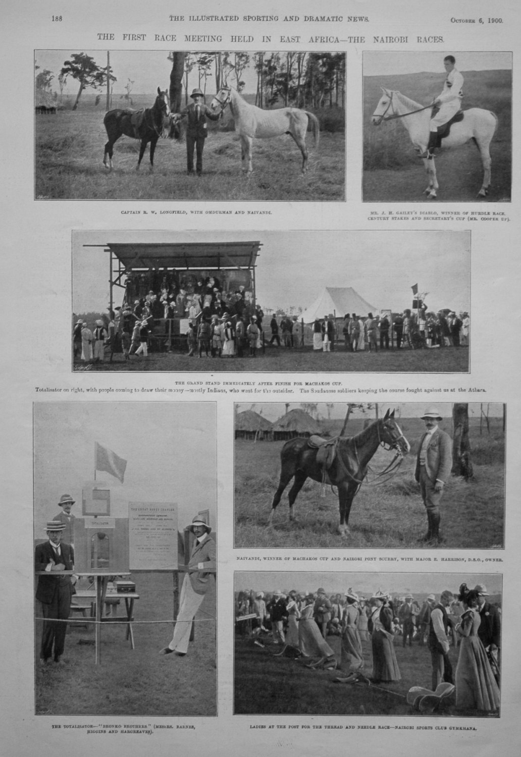 The First Race Meeting Held in East Africa - The Nairobi Races. 1900