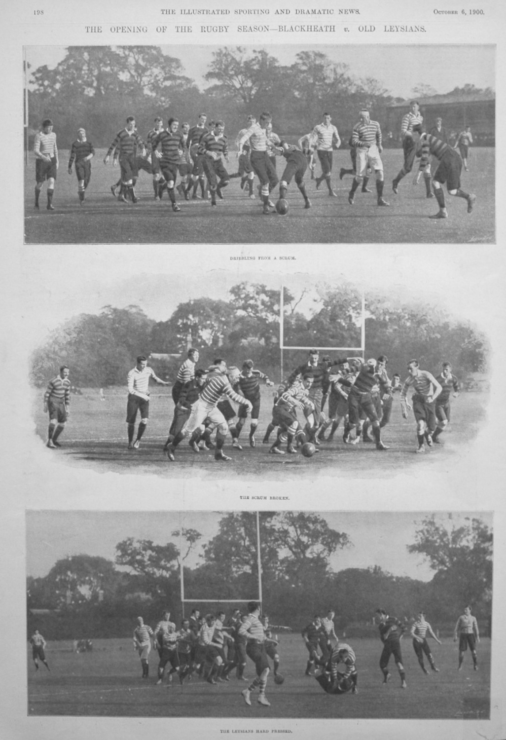 The Opening of the Rugby Season - Blackheath v. Old Leysians. 1900