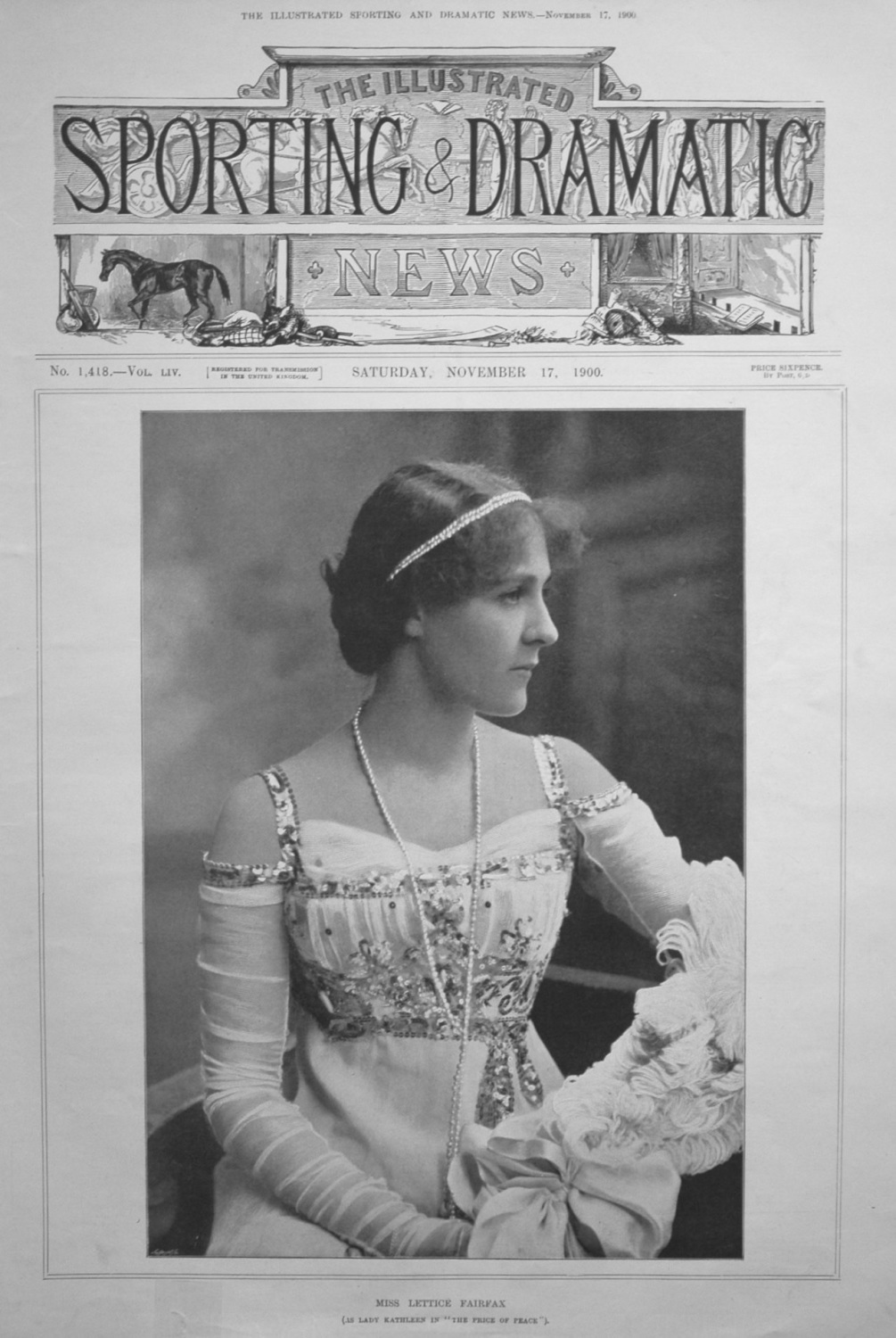 Miss Lettice Fairfax. November 1900