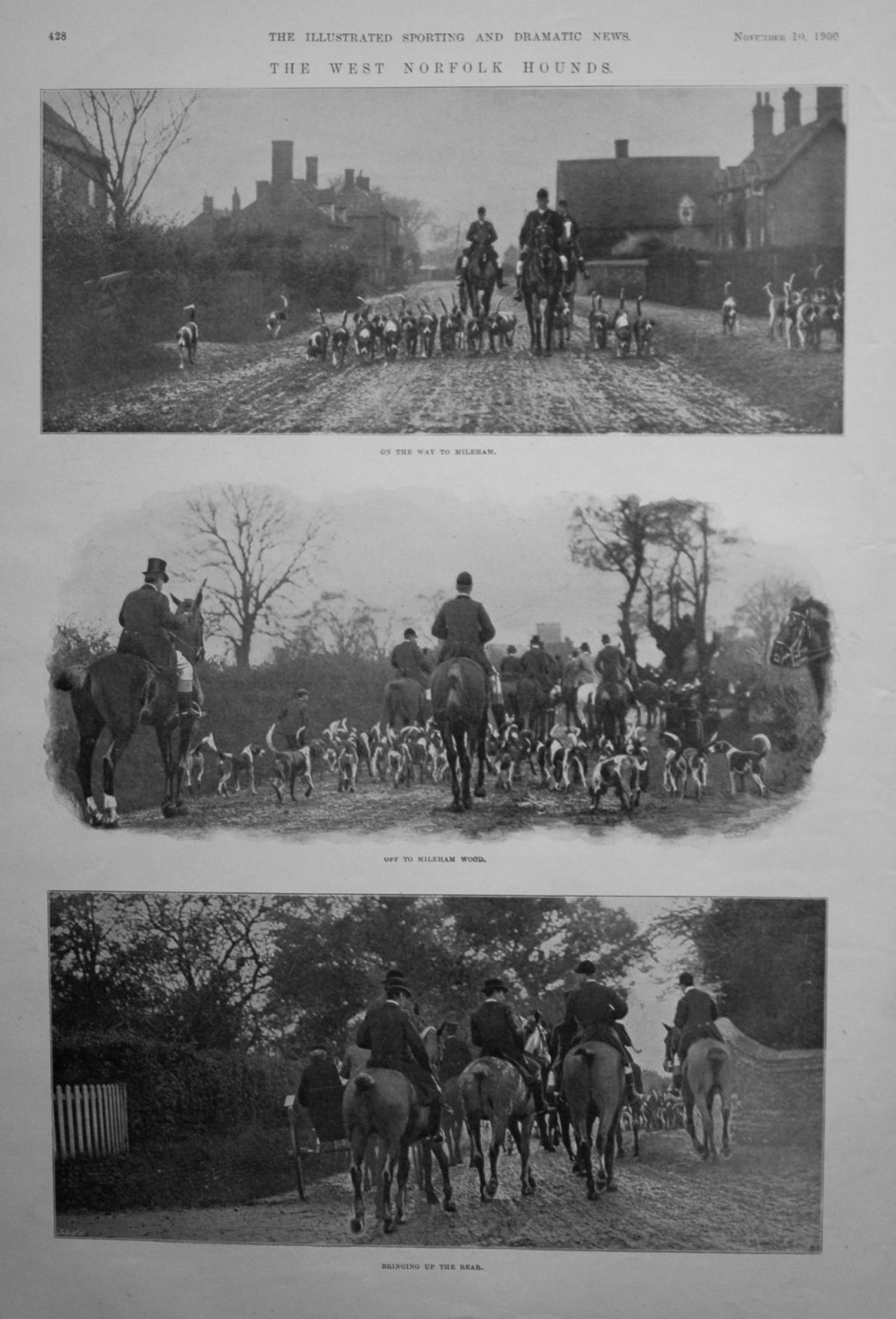 The West Norfolk Hounds. 1900