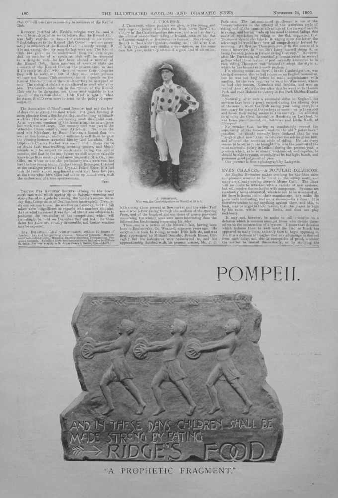 """Even Chances - A Popular Delusion."" November 24th 1900."