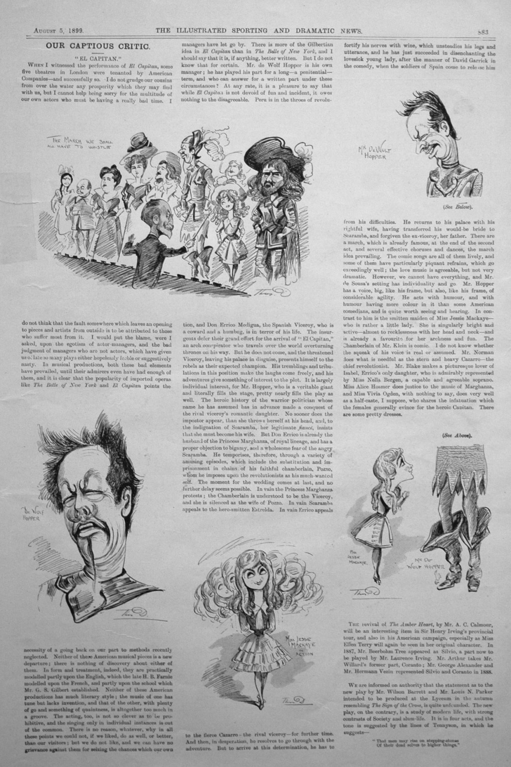 Our Captious Critic, August 5th 1899.