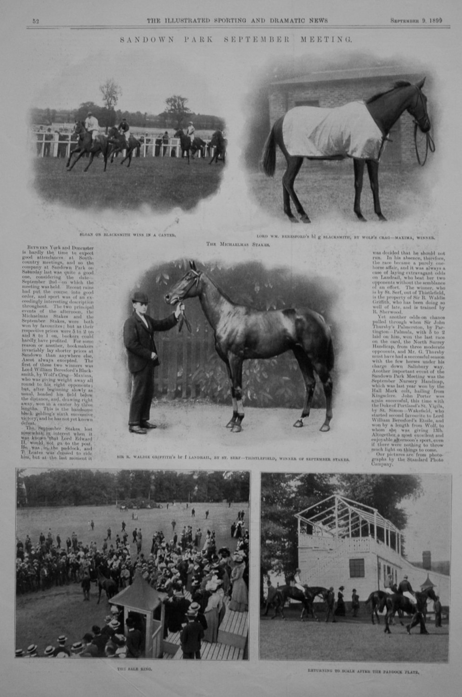 Sandown Park September Meeting. 1899