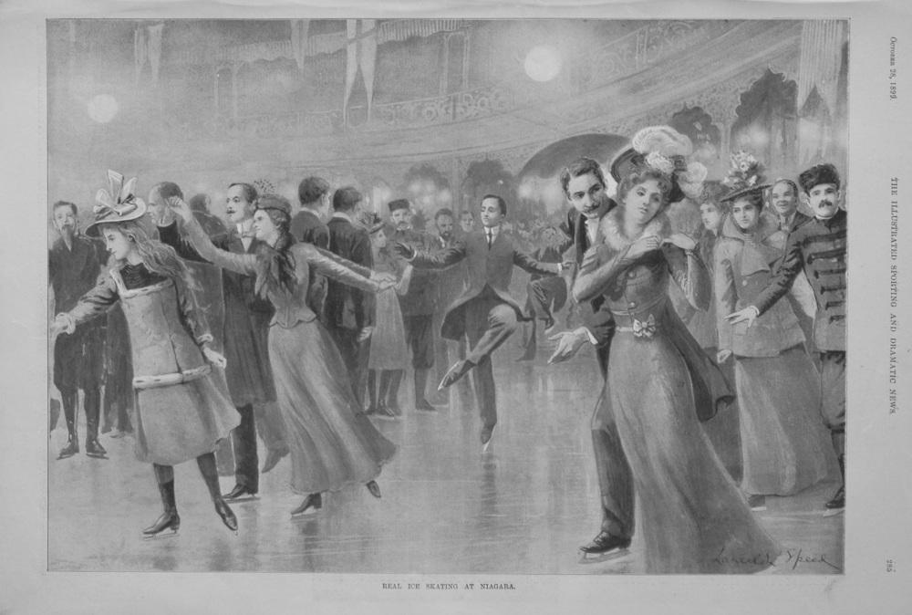 Real Ice Skating at Niagara. 1899