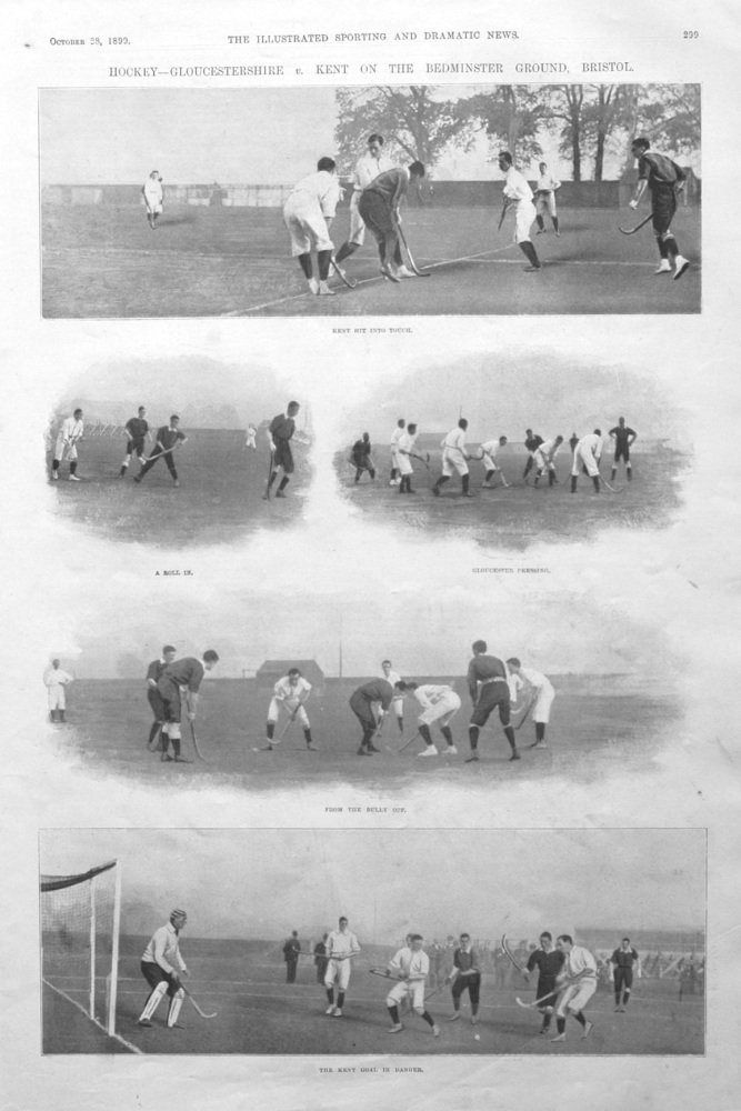 Hockey - Gloucestershire v. Kent on the Bedminster Ground, Bristol. 1899