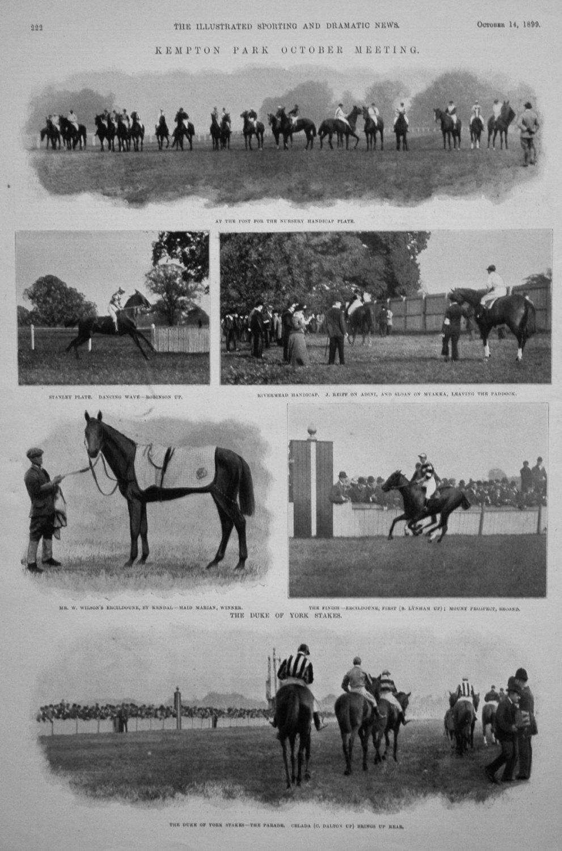 Kempton Park October Meeting. 1899