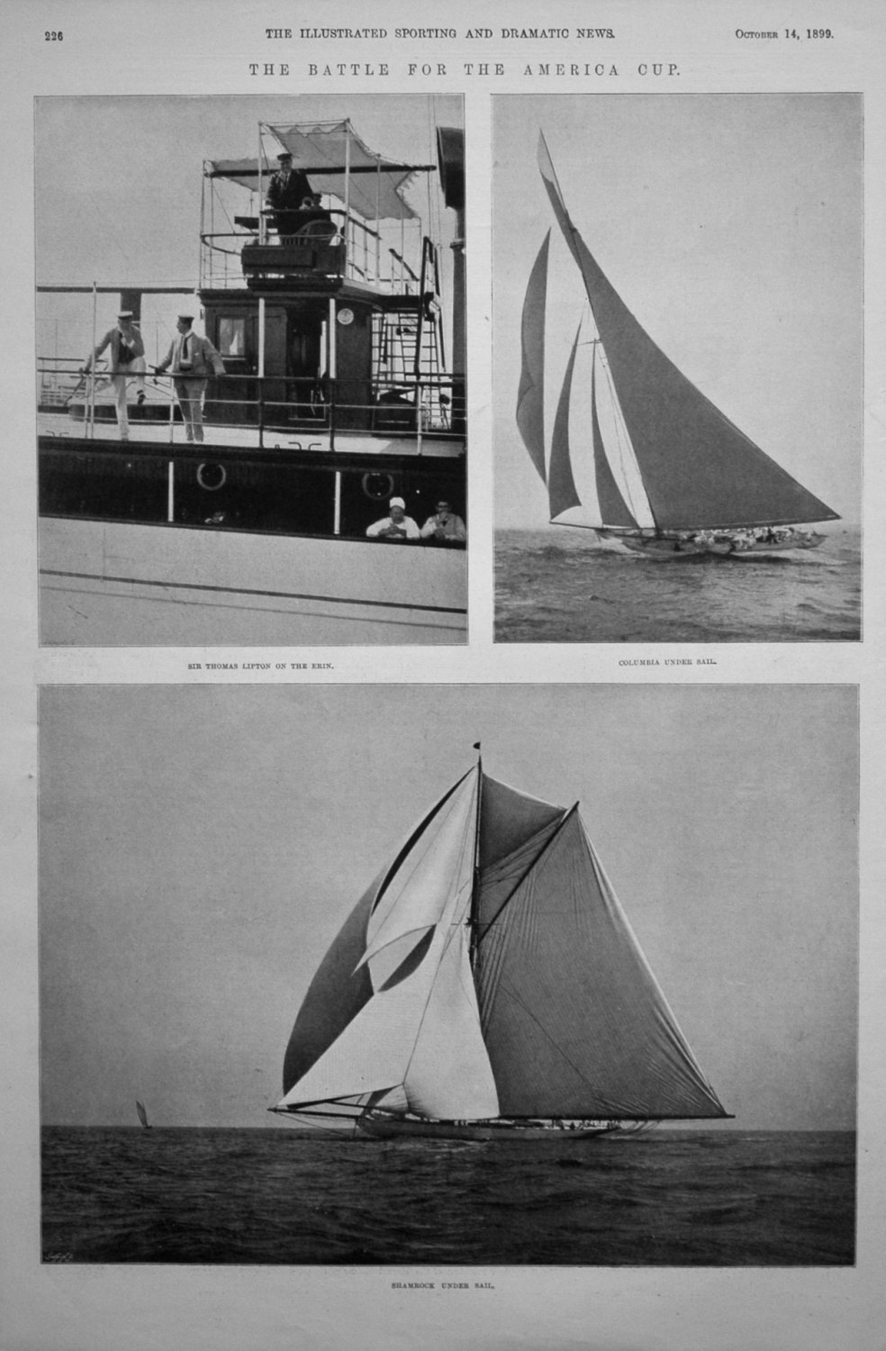 The Battle for the America Cup. 1899 (Sailing)