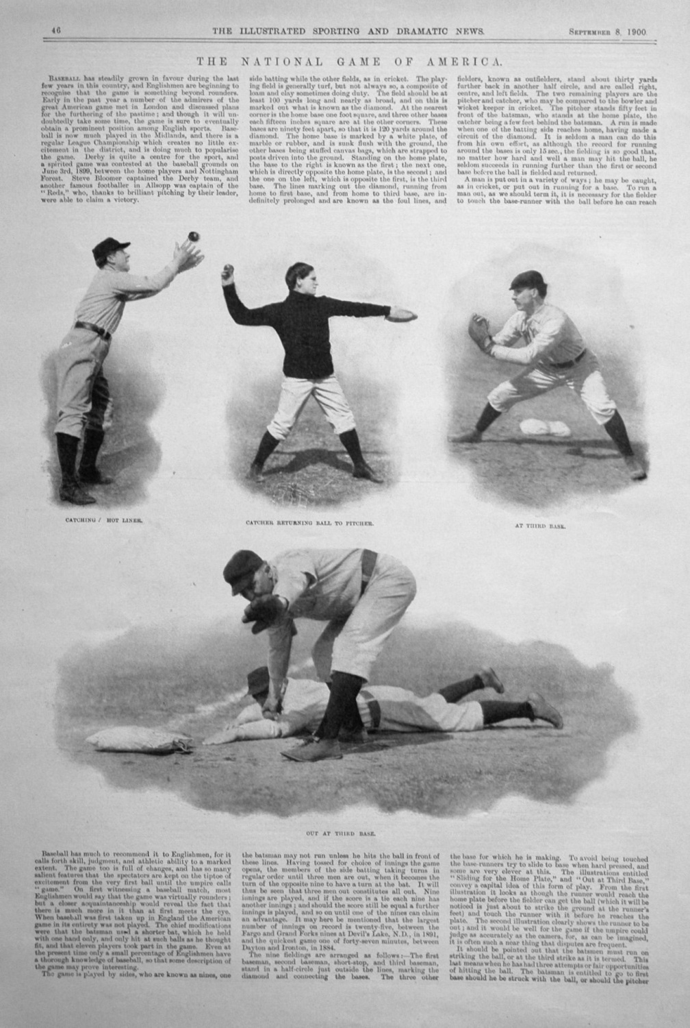 The National Game of America. 1900.