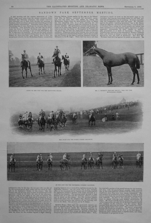 Sandown Park September Meeting. 1900