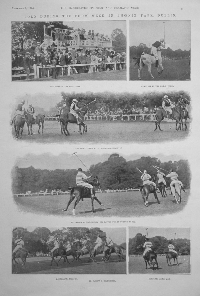 Polo During the Show Week in Phoenix Park, Dublin. 1900